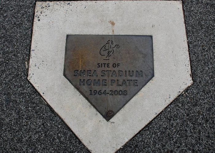 Shea Stadium Greeting Card featuring the photograph Shea Stadium Home Plate by Rob Hans
