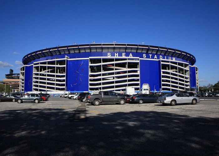 America Greeting Card featuring the photograph Shea Stadium - New York Mets by Frank Romeo