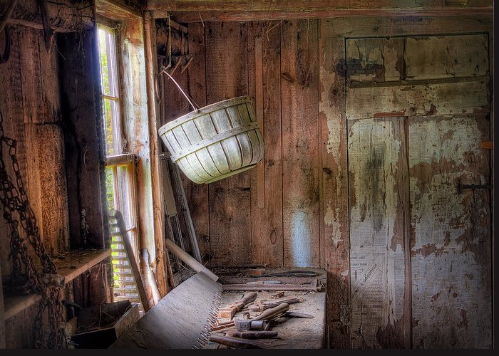 Hdr Greeting Card featuring the photograph Shed by Mikael Carstanjen