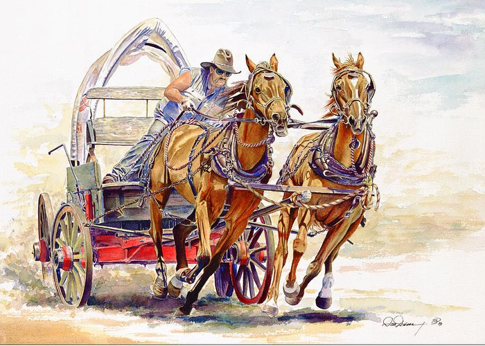Wild Racers Greeting Cards