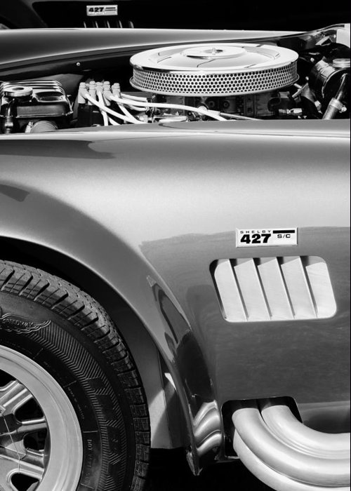 Shelby Cobra 427 Engine Greeting Card featuring the photograph Shelby Cobra 427 Engine by Jill Reger