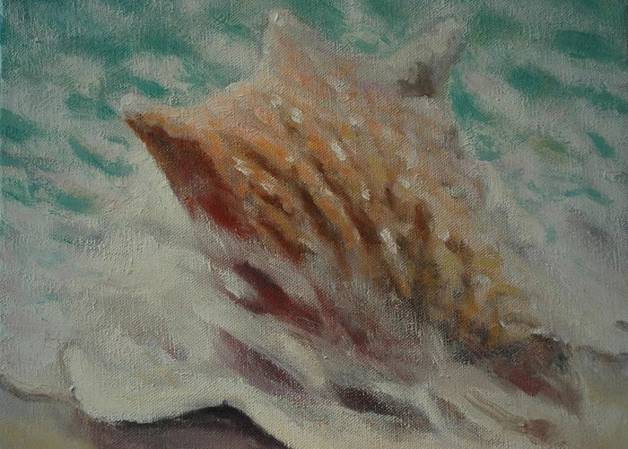 Set Greeting Card featuring the painting Shell Two - 2 In A Series Of 3 by Don Young