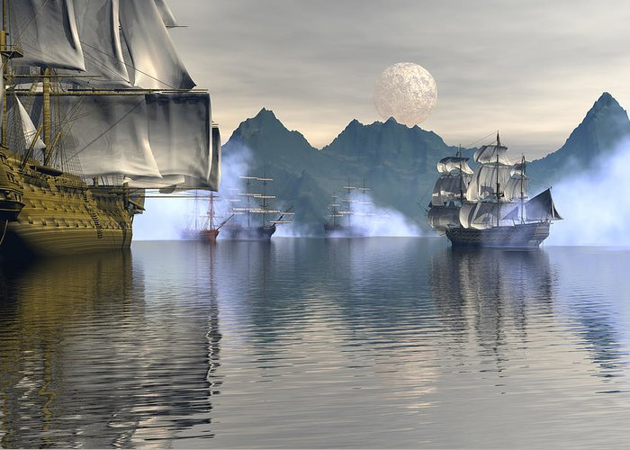 Bryce Greeting Card featuring the digital art Shelter Harbor 2 by Claude McCoy