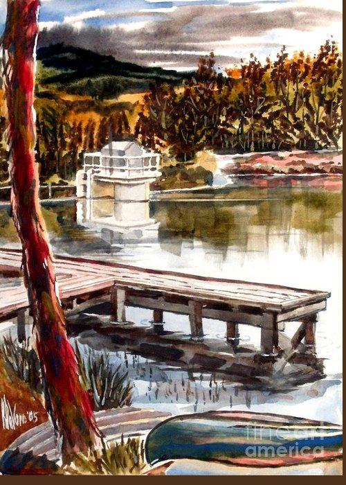 Shepherd Mountain Lake Bright Greeting Card featuring the painting Shepherd Mountain Lake Bright by Kip DeVore