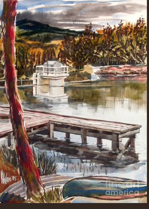 Shepherd Mountain Lake In Twilight Greeting Card featuring the painting Shepherd Mountain Lake In Twilight by Kip DeVore
