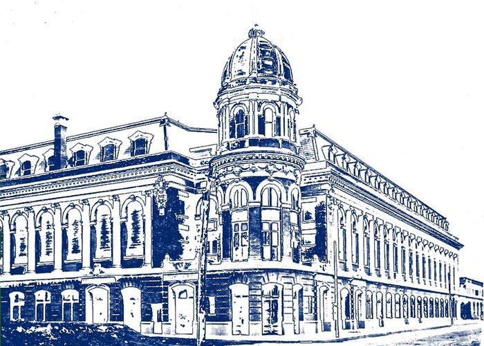 Shibe Greeting Card featuring the photograph Shibe Park 2 by John Madison