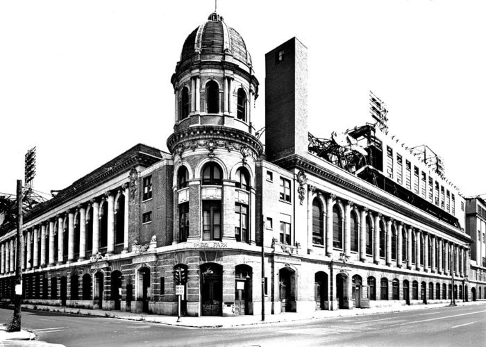 Shibe Greeting Card featuring the photograph Shibe Park by Benjamin Yeager