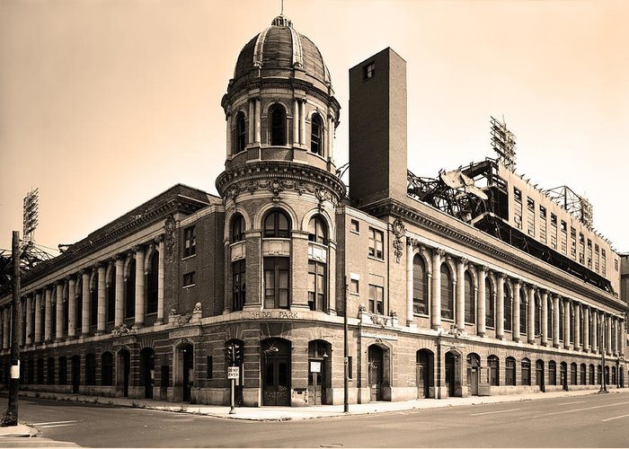 Shibe Park Greeting Card featuring the photograph Shibe Park by Bill Cannon