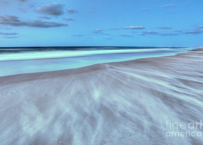 Frisco Beach Greeting Card featuring the photograph Shifting Sands On Frisco Beach Outer Banks I by Dan Carmichael