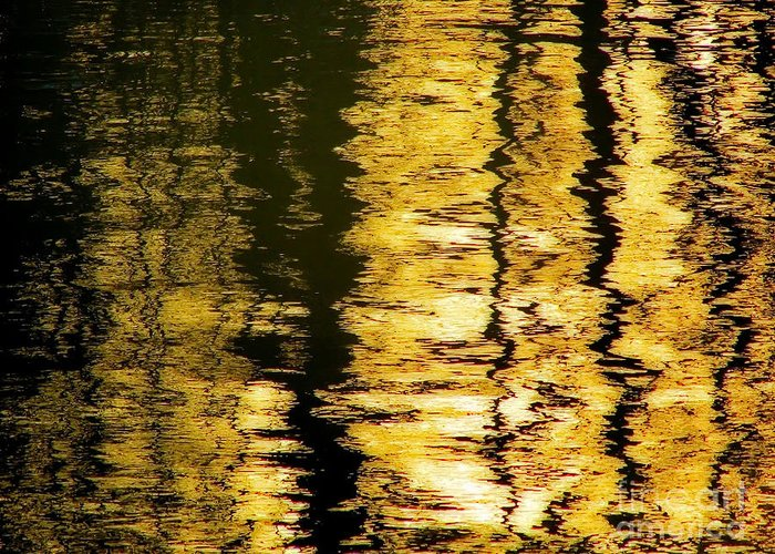 Shimmer On The Lake Greeting Card featuring the photograph Shimmer by Stacey Brooks