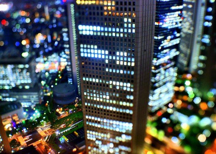 Built Structure Greeting Card featuring the photograph Shinjuku by Takashi Kitajima