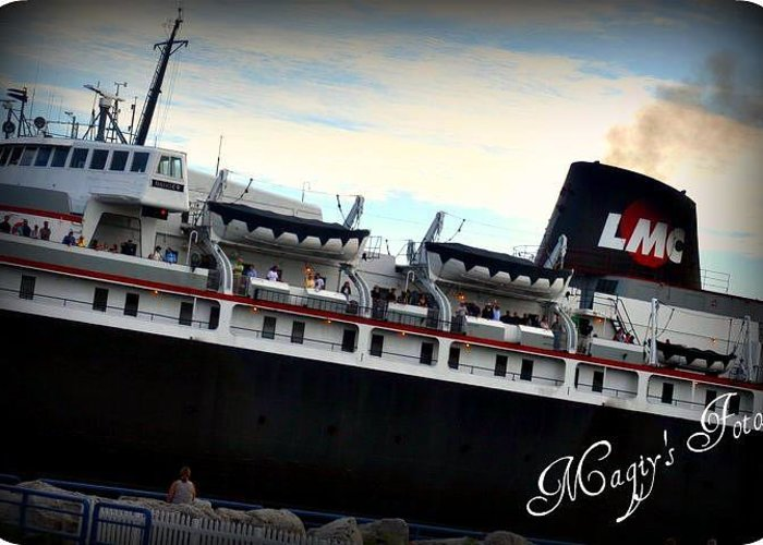 Ship Greeting Card featuring the photograph Ship by Magi Yarbrough
