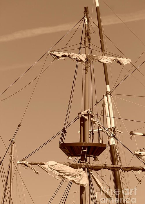Ship Greeting Card featuring the photograph Ship Mast by April Perez