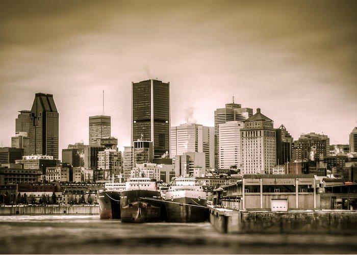 Buildings Greeting Card featuring the photograph Ships Moored For Winter by Martin New
