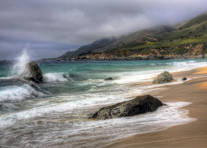 Big Sur Greeting Card featuring the photograph Shores Of Big Sur by Shawn Everhart