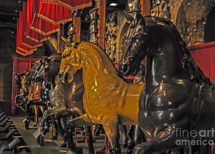 Travel Greeting Card featuring the photograph Showcase Of Royal Horses by Elvis Vaughn