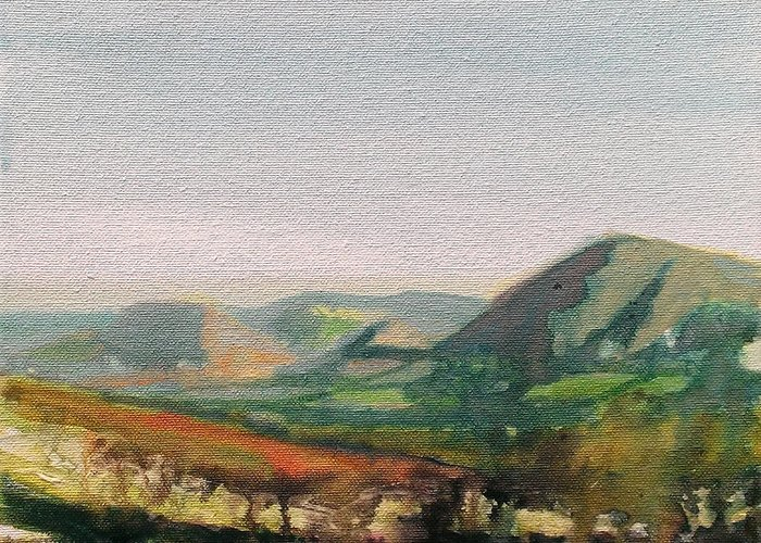 Ink Greeting Card featuring the painting Shropshire Hills 2 by Paul Mitchell