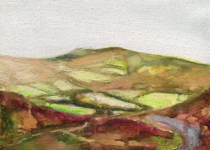 Ink Greeting Card featuring the painting Shropshire Hills 3 by Paul Mitchell