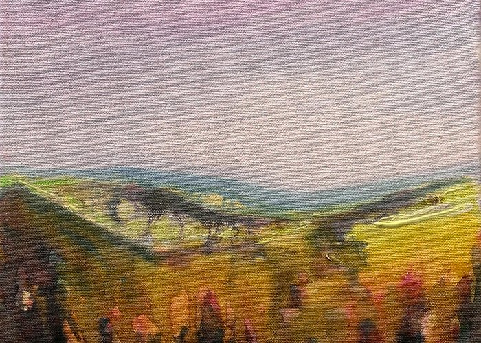 Ink Greeting Card featuring the painting Shropshire Hills 4 by Paul Mitchell