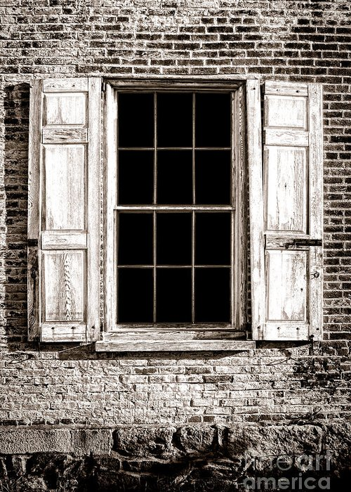Window Greeting Card featuring the photograph Shutters by Olivier Le Queinec