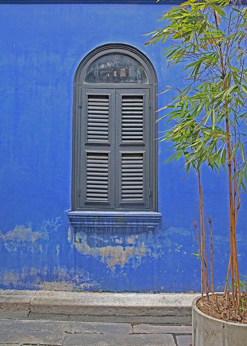 Penang Greeting Card featuring the photograph Shutters Penang by Tony Brown