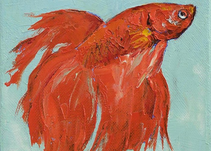 Siamese Fighting Fish Greeting Cards