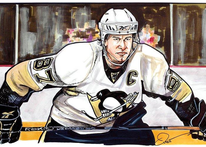 Sidney Crosby Pittsburgh Penguins Hockey Sport Huge Giant Print POSTER Plakat