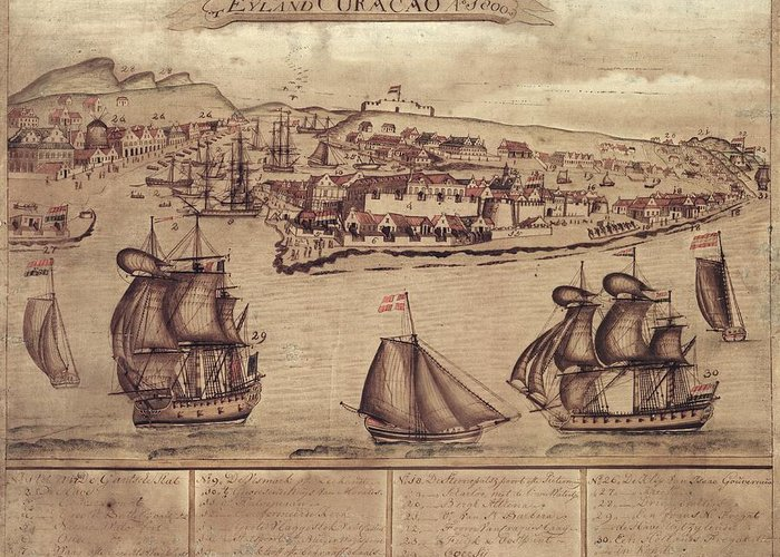 Siege Of Curacao Greeting Card featuring the photograph Siege Of Curacao by Library Of Congress, Geography And Map Division