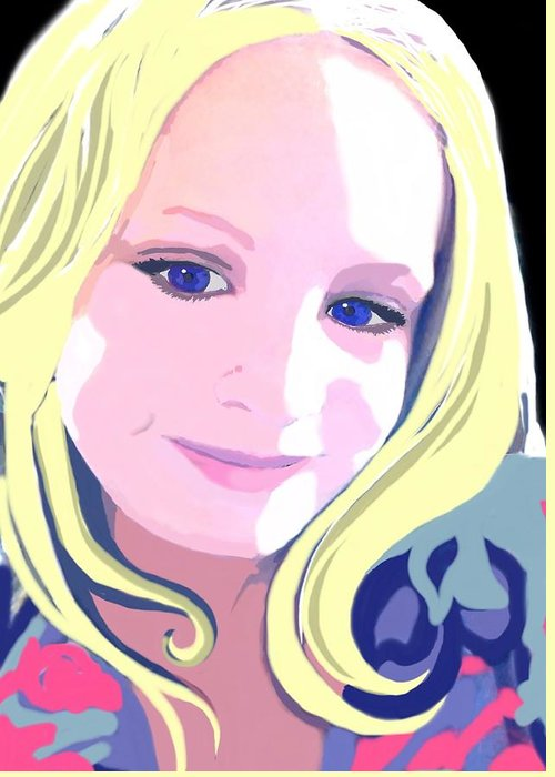 Kid Greeting Card featuring the digital art Sierra by Cindy Edwards