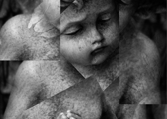 Seraphim Greeting Card featuring the photograph Silence Of A Seraphim by Empty Wall