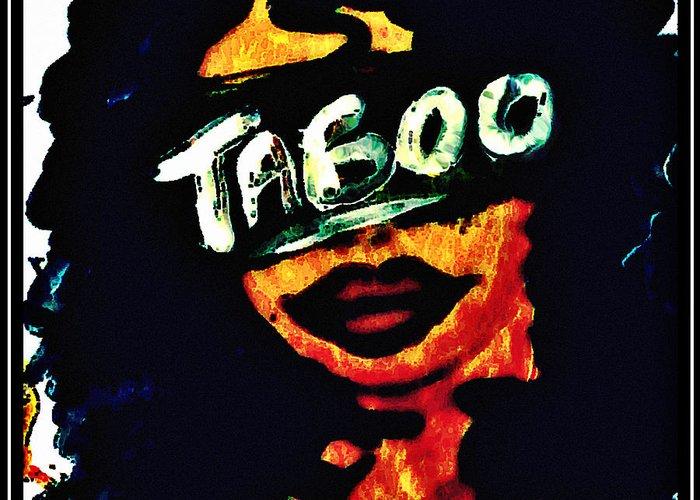 Taboo Greeting Card featuring the painting Silenced by Sivaanan Balachandran