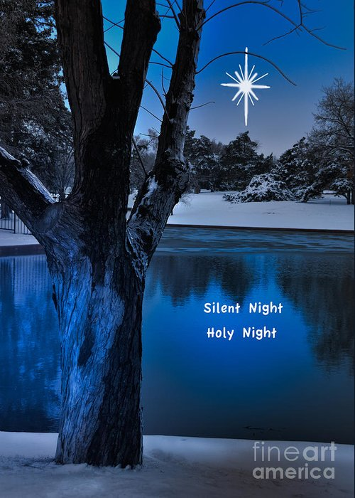 Landscape Greeting Card featuring the photograph Silent Night by Betty LaRue