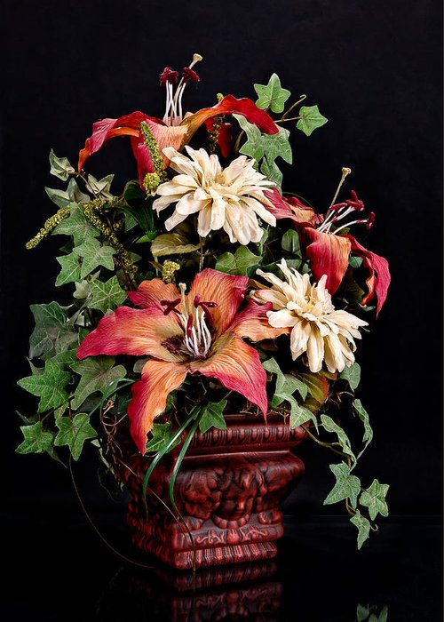 Jeff Greeting Card featuring the photograph Silk Flowers by Jeff Burton
