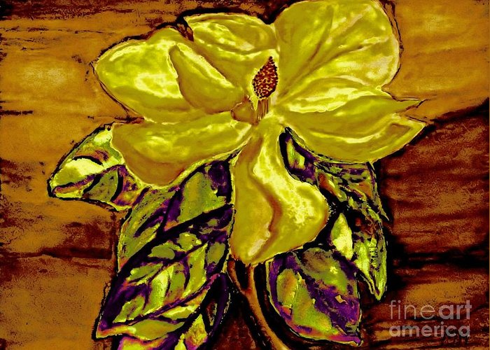 Painting Greeting Card featuring the painting Silky Magnolia by Marsha Heiken