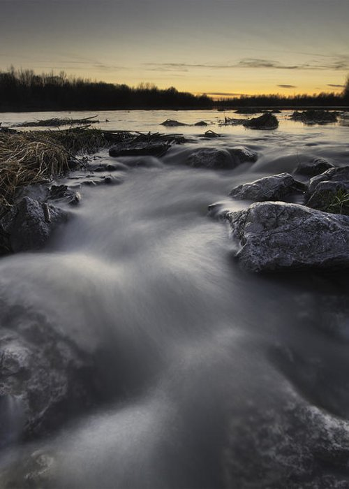 Landscapes Greeting Card featuring the photograph Silky River by Davorin Mance