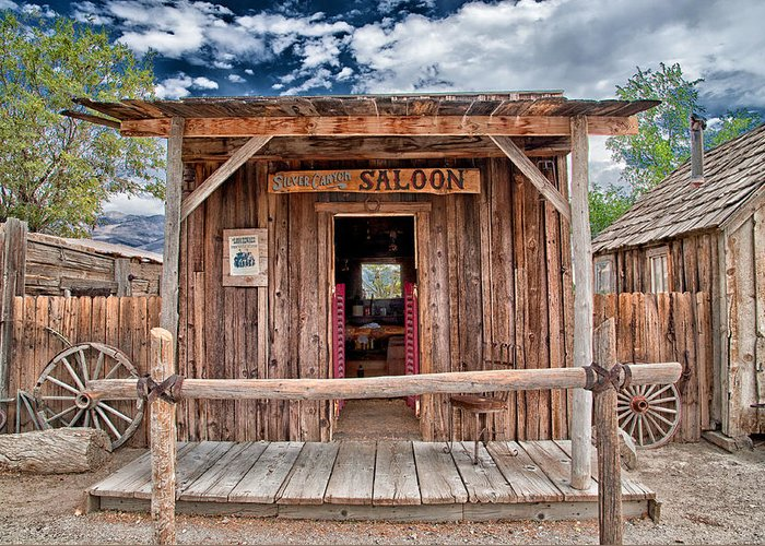 Saloon Greeting Card featuring the photograph Silver Canyon Saloon by Cat Connor