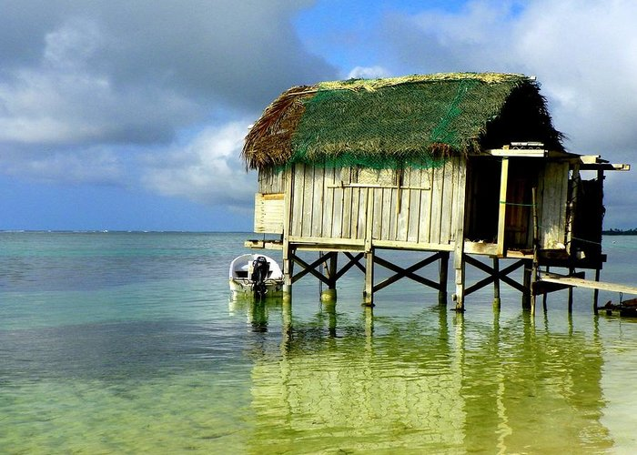 Fishing Shacks Greeting Card featuring the photograph Simple Solitude by Karen Wiles