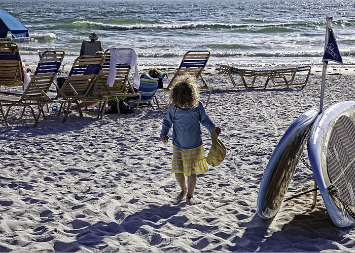 Summer Greeting Card featuring the photograph Simpler Times 2 - Miami Beach - Florida by Madeline Ellis