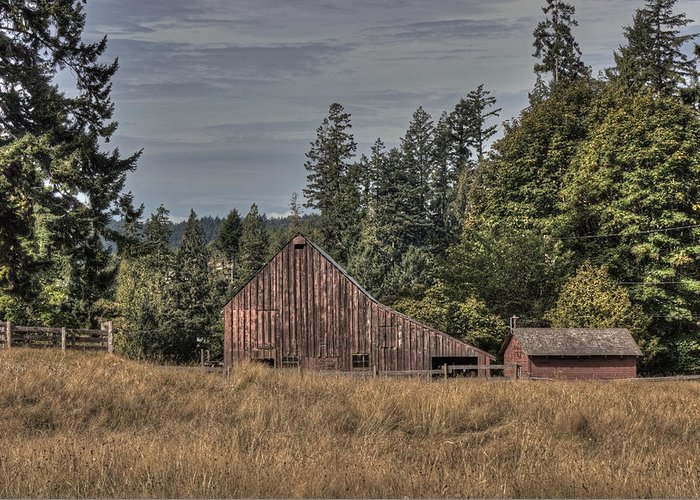 Barn Greeting Card featuring the photograph Simpler Times by Randy Hall