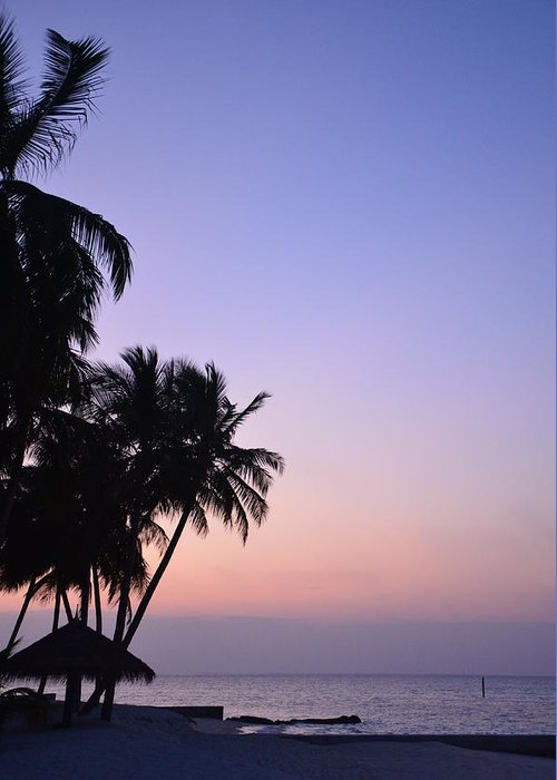 Rangali Island Greeting Card featuring the photograph Simply Sunset by Corinne Rhode