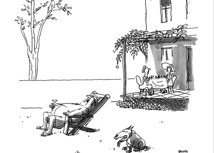 Lawn Chair Drawings Greeting Cards