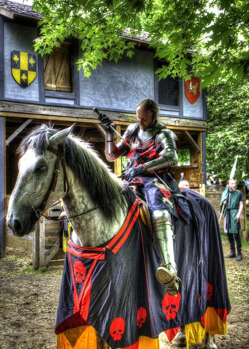 Sir Lancelot Du Lac Greeting Card featuring the photograph Sir Lancelot Du Lac - V2 by John Straton