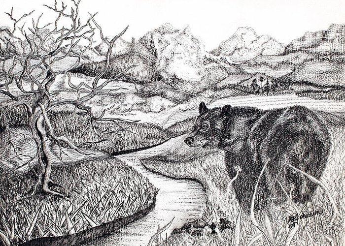 Wolf Creek Drawings Greeting Cards