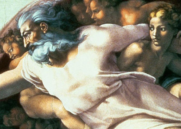 Renaissance Greeting Card featuring the painting Sistine Chapel Ceiling Creation Of Adam by Michelangelo Buonarroti