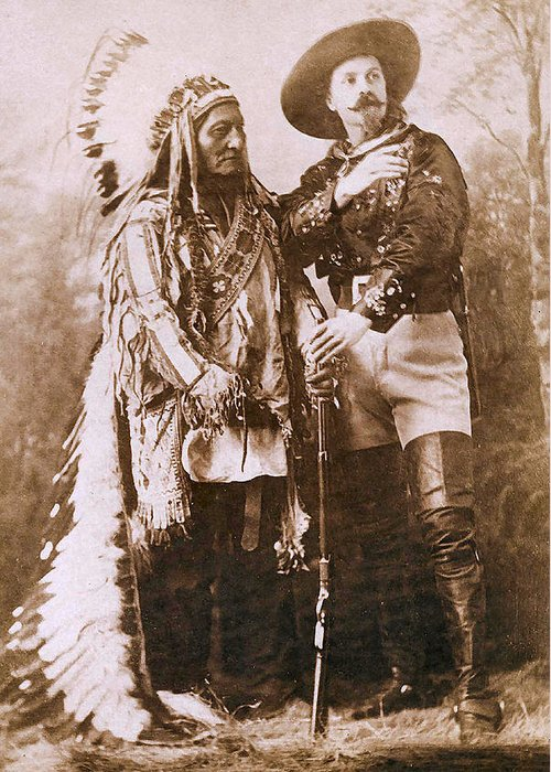 Sitting Bull And Buffalo Bill Greeting Card featuring the photograph Sitting Bull And Buffalo Bill by Unknown