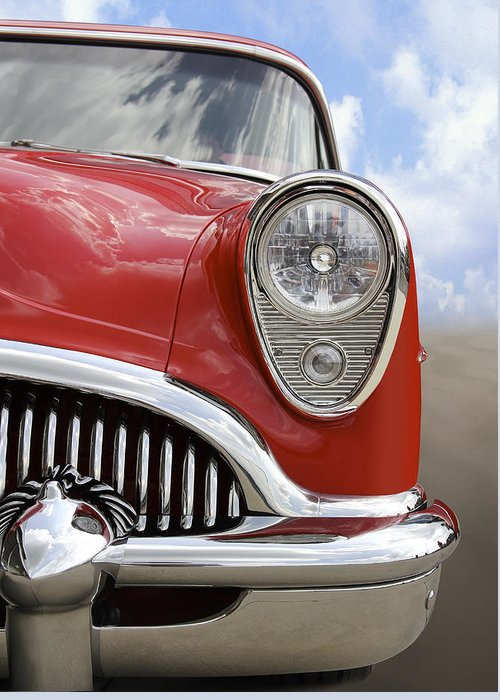 Transportation Greeting Card featuring the photograph Sitting Pretty - Buick by Mike McGlothlen