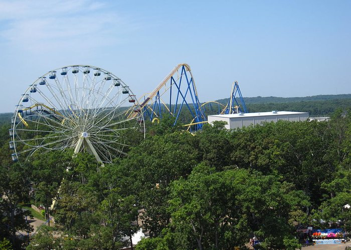 Six Greeting Card featuring the photograph Six Flags Great Adventure - 12127 by DC Photographer