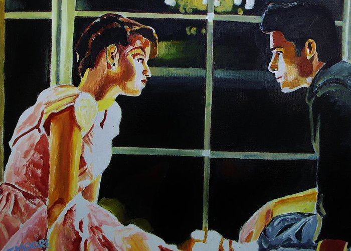 16 Greeting Card featuring the painting Sixteen Candles by Jeremy Moore