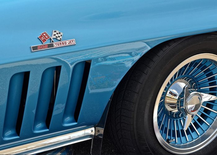 Corvette Greeting Card featuring the photograph Sixty Six Corvette Roadster by Frozen in Time Fine Art Photography