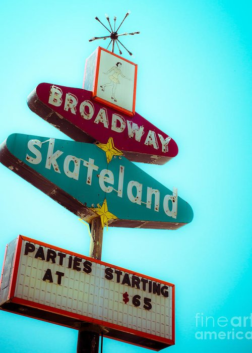 Skating Greeting Card featuring the photograph Skateland by Sonja Quintero